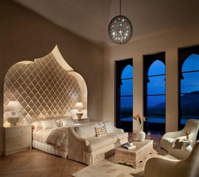 Weises Schlafzimmer Design