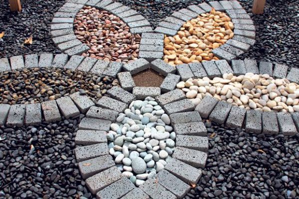 curated river rocks ideas