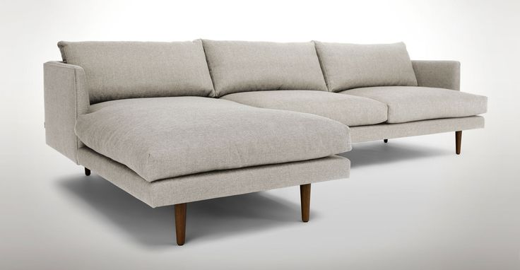 simple design living room with burrard sectional sofa and