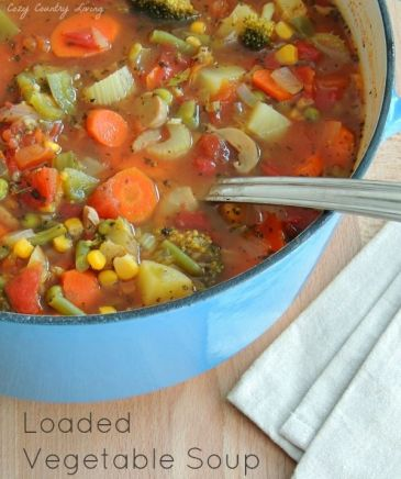 Easy To Make Homemade Loaded Vegetable Soup:
