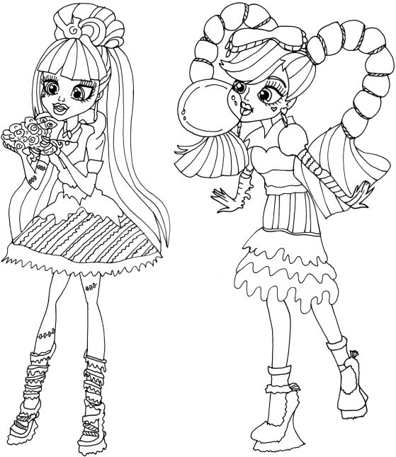 Free Printable Monster High Coloring Pages: Sweet Screams