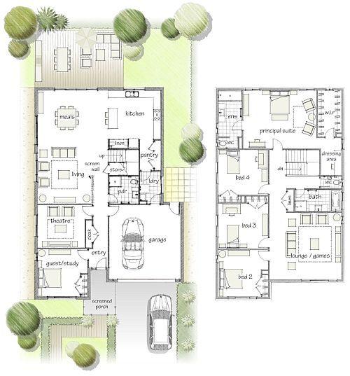 5 bedroom 2 story house plans australia for Buy house plans australia