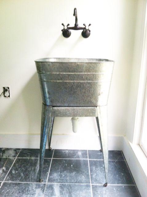 48 kitchen sink base cabinet kidde fire extinguisher 17 best images about galvanized tub sinks on pinterest ...