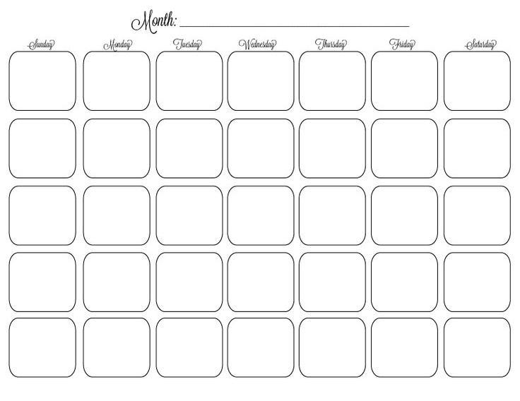 127 best images about Monthly Calendar Printables on