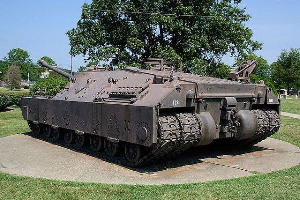 Patton Museum of Armor at Fort Knox T28 Super Heavy Tank