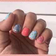 nail art #nailart glitter tiffany