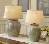 Ceramic table, Blue pottery and Ceramic table lamps on ...