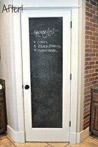 25+ best ideas about Chalkboard pantry doors on Pinterest ...