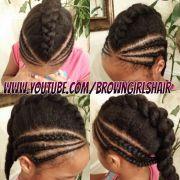 cornrows little black girl hairstyles