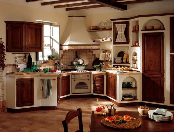 cucine in muratura  Cerca con Google  cucina  Pinterest  Love it Country and Country kitchens