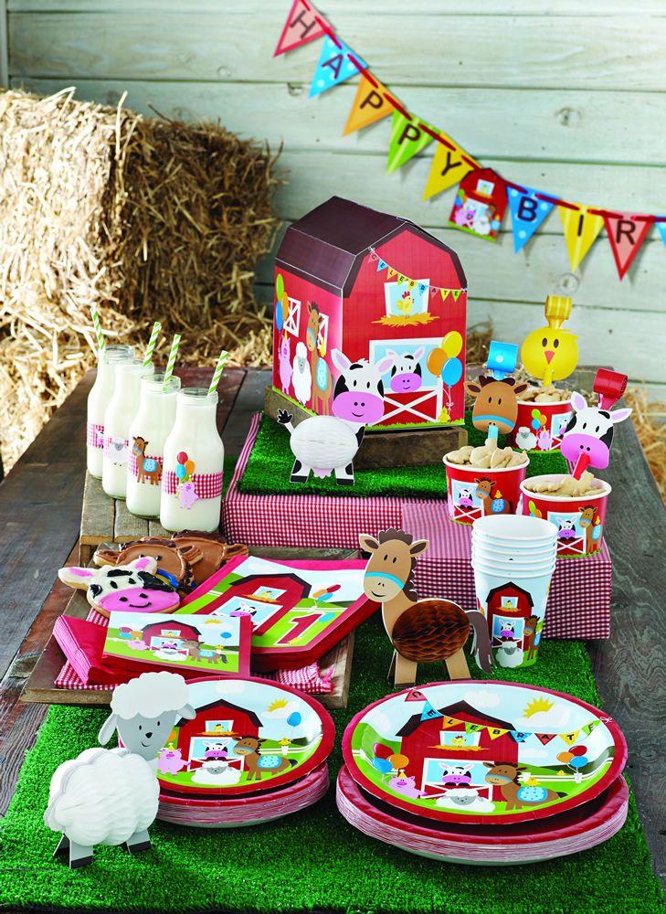 Stylish Baby First 1st Birthday Farm Fun Party Plates Cups Napkins Decorations EBay A