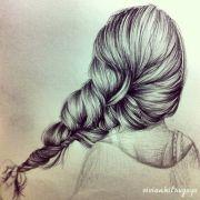 braided hair drawing art