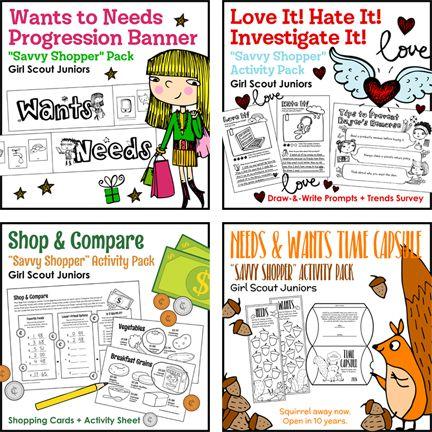 Girl Scout Juniors quotSavvy Shopperquot Activity Pack Bundle
