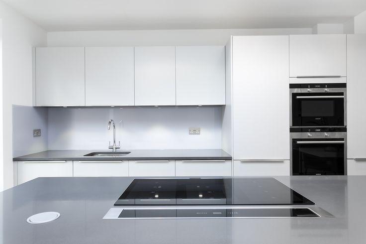 White Kitchen Units Grey Worktop