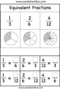 Equivalent Fractions Worksheets | Printable Worksheets ...