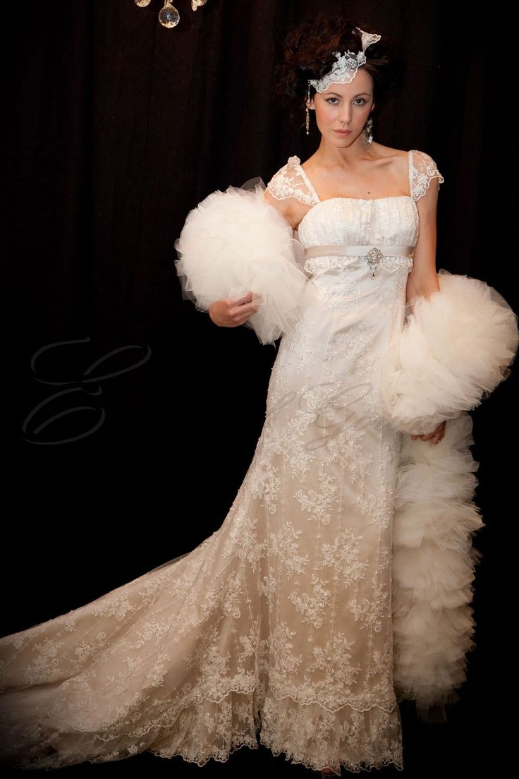 French Beaded Lace Off The Shoulder Wedding Dress
