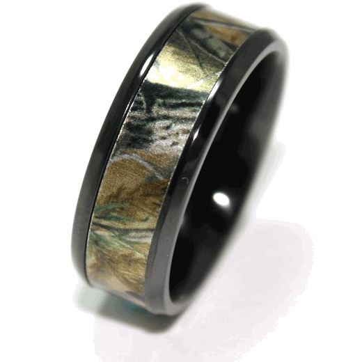 Mens Black Camo Wedding Ring  Wedding Wedding ring and