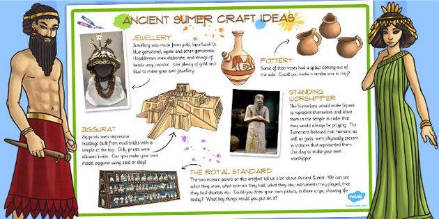 Ancient Sumer Craft Ideas Mesopotamia For Kids