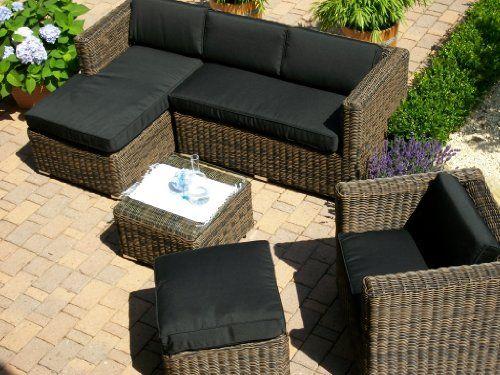 xinro polyrattan loungeset braun mix gartenmobel set bahamas, Garten und erstellen