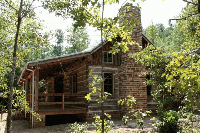Preservation Texas Stewardship Award Winning Log Cabin