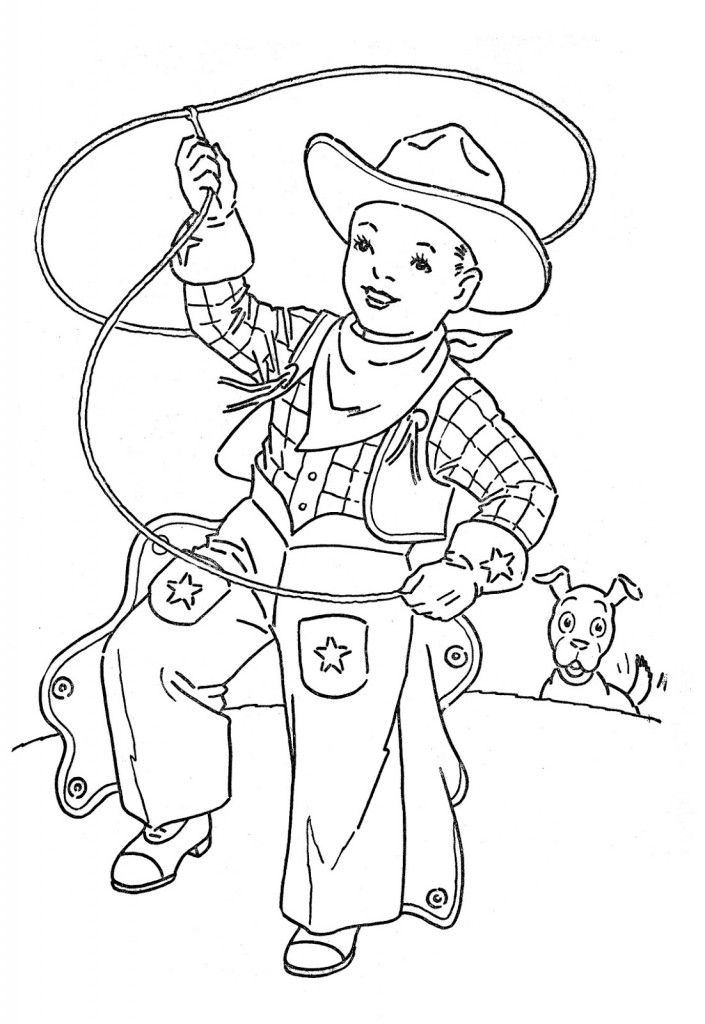 Pleasant Cowboy Coloring Pages Pics Printable Coloring