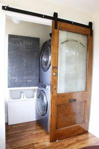 Sliding door flat track barn door for the laundry room. I ...