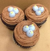 Baby bird cupcake decoration | Cupcakes | Pinterest