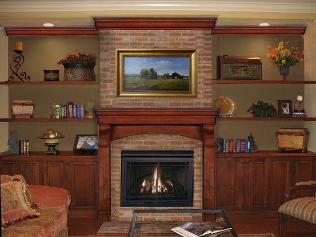 TV over brick fireplace  more help needed with fireplace design pictures included  Home