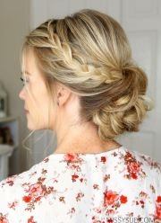 ideas bun braid