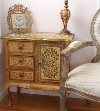 RESERVED...Vintage Florentine Chest...Side Table...Cabinet ...