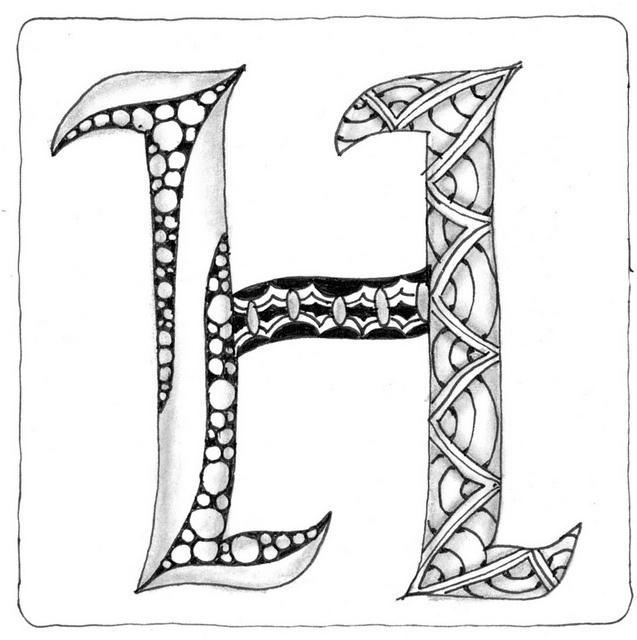 609 best ideas about Zentangle Letters on Pinterest