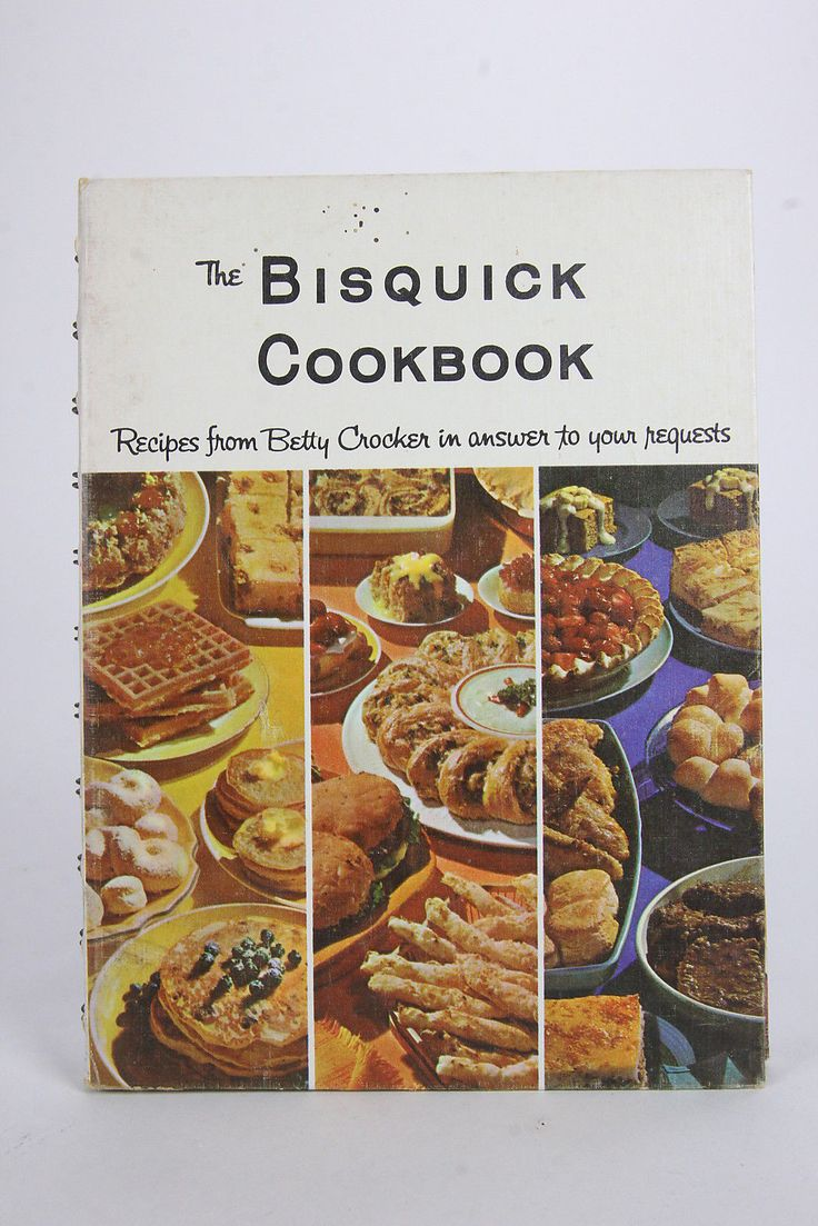 1964 The Bisquick Cookbook Recipes From Betty Crocker