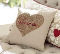 Love Beaded Pillow | Pottery Barn | Home Decor Ideas ...