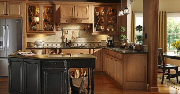 KraftMaid Montclair Maple in Burnished Ginger I like the