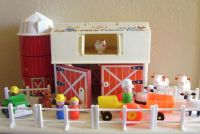 Vintage Fisher Price Little People Family Play Farm ...