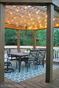 25+ best ideas about Pergola lighting on Pinterest ...
