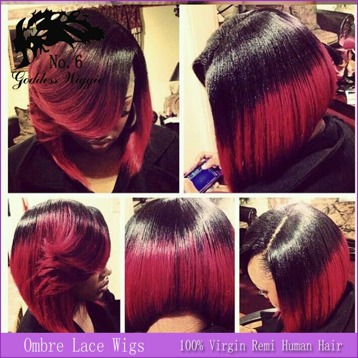 Red Bob Hairstyle Black Hair Red Hair Trend 2017