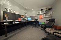 Shawn's garage-office/man-cave. The perfect melange to ...