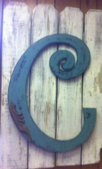 Letter C / Initial C Door Hanger / Decor / Garden / Fence