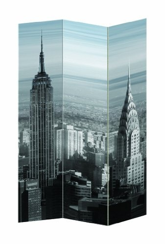 New York City Theme Three Panel Folding Screen  Room