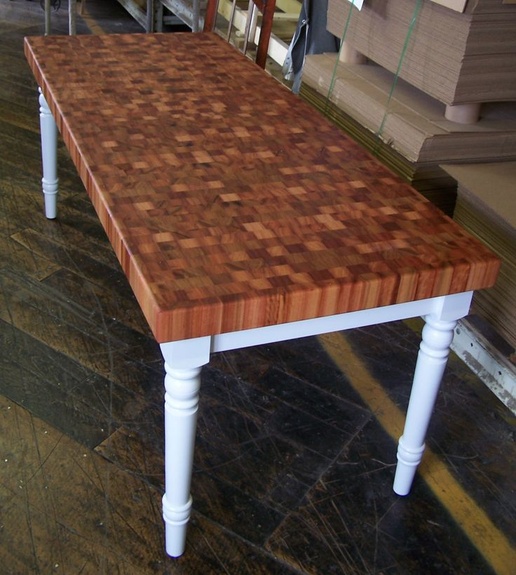 reclaimed wood kitchen shelves appliance cabinet beautiful end-grain table. | products at the factory ...