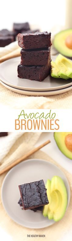 A healthy and delicious recipe for avocado brownies! Replace oil or butter with heart-healthy avocados for
