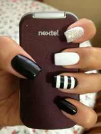 25+ best ideas about Black white nails on Pinterest