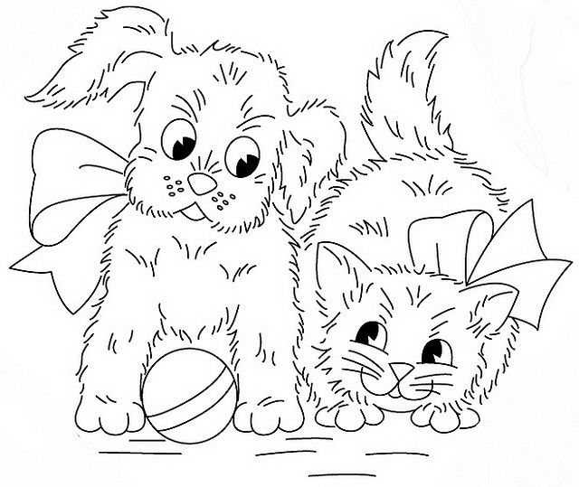77 best images about cats and dogs coloring pages on