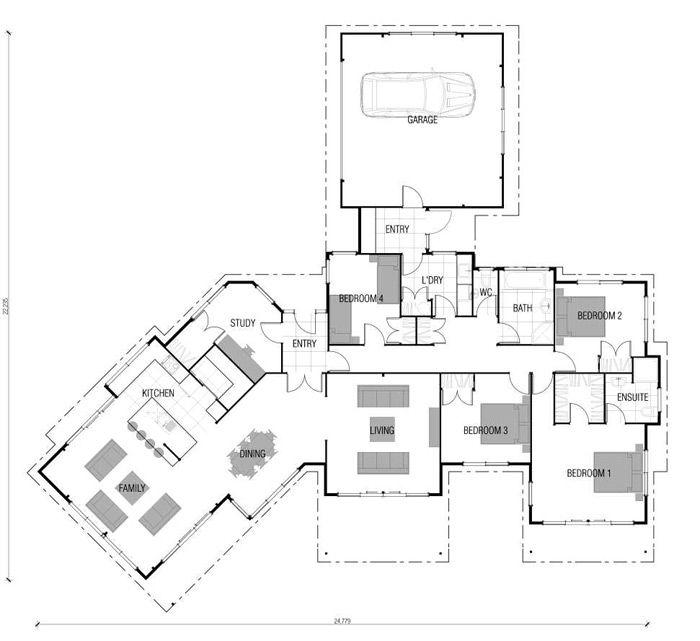 73 best images about L Shape house Plans on Pinterest