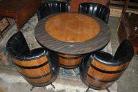 Vintage Whiskey Barrel Dinette Set Card Table by ...