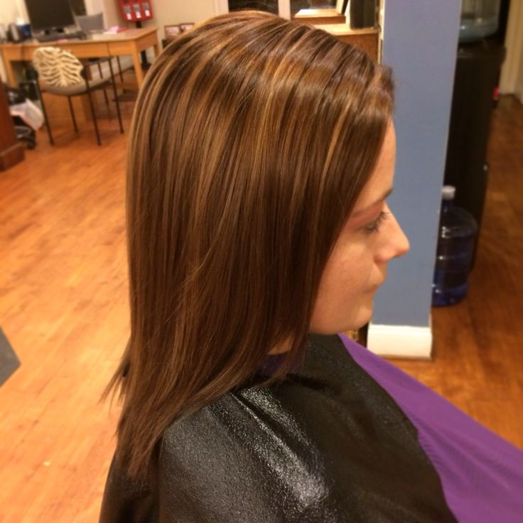 Hair Golden Brown With Caramel Highlights Joico 5G6G