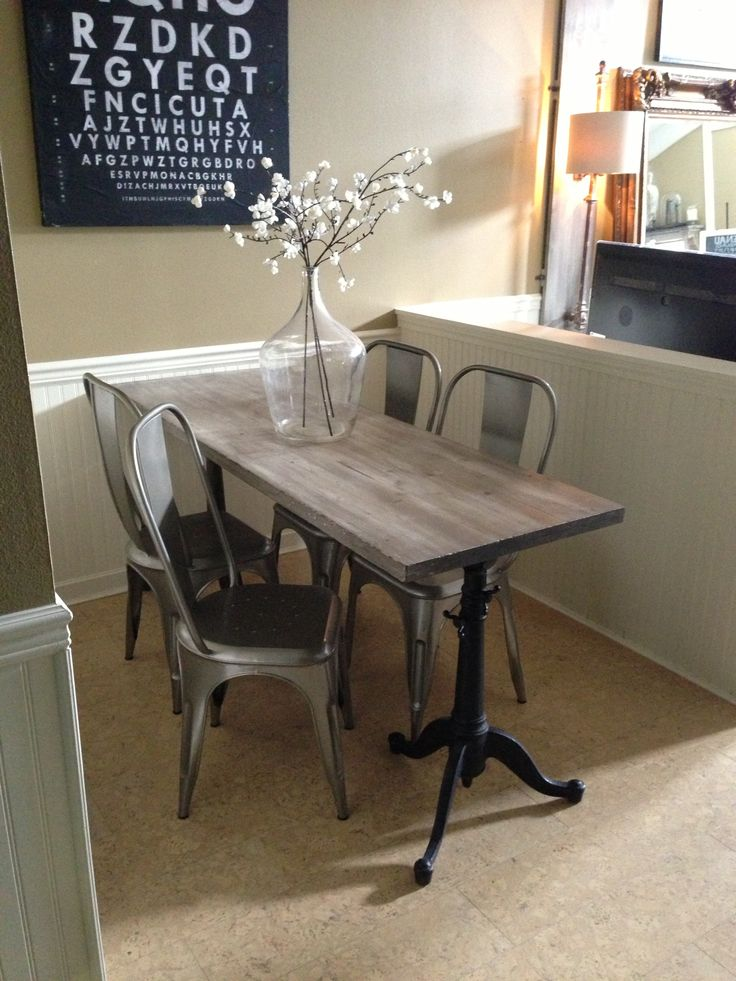 Narrow dining table for narrow space Industrial chic