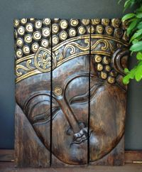 Buddha Head 3 Piece Wall Panel www.balimystique.com.au ...