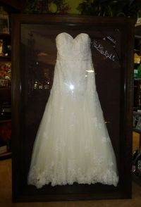 Framed Wedding Dress by Floral Keepsakes, displayed in one